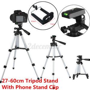Portable Extendable Tripod Stand Adjustable Camera Phone Mini Projector 60cm AU