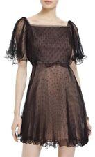 BCBG Max Azria Elegant Black Off Shoulder Cocktail Mini Tulle Dress Sz 2 $328