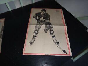 Toronto Maple Leafs vintage mike walton # 16 Black & white poster very rare hock