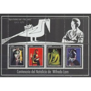 4CUBA  Sc# 4273a  PAINTINGS  Wilfredo Lam  SPEC ED MINI SHEET  2002  MNH mint