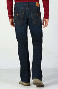 True Religion Men's Big & Tall Jeans Billy Relaxed Bootcut Midnight Pass 46x33