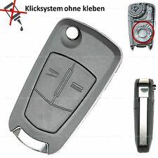 Klapp Schlüssel Ersatz Gehäuse für Opel Corsa D Zafira B Astra H Tigra Meriva A