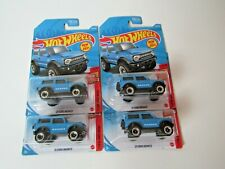 Hot Wheels 1:64 21 Ford Bronco, Then and Now, 3/10, Blue, Lot of 4