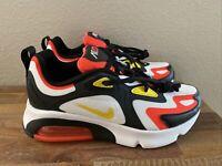 Nike Air Max 200 (GS) White Black Crimson Yellow AT5627-005 Boy's Sz 7Y /Wmn 8.5