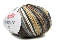 CHROMATIC KATIA 100% Baumwolle FARBVERLAUF 66 Gradient cotton yarn Strickgarn