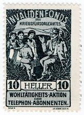 (I.B) Austria Cinderella : War Veterans Fund 10h (Invalids)