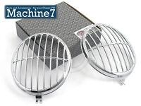 Classic VW Beetle Headlamp Light 356 Style Grille Stainless Bug Splitscreen Bus