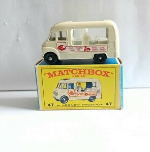 MATCHBOX 47 COMMER ICE CREAM CANTEEN TRUCK . MINT &  RARE E 1 BOX VGC!!
