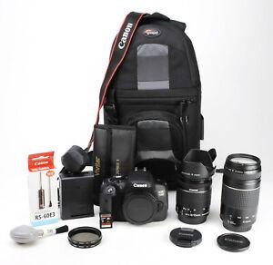 Canon 750D DSLR Dual Lens Kit - EF-S 18-55mm IS STM + EF 75-300mm III -  EXC