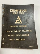 Allis Chalmers Service Manual Sm 5 Wd Wd 45 D14 Tractor Diesel Engine