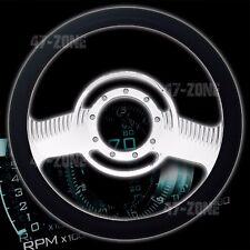"BILLET ALUMINUM 14"" STEERING WHEEL W/HALF WRAP GENUINE LEATHER 5507 - CHROME"