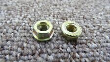 RENAULT Exhaust Nuts Manifold Pipe Hex Flange Self Locking Copper Trim Clips