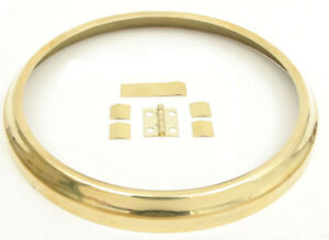 """New Brass Clock Bezel Dial Ring with Hinge - Choose from 3-1/8"""" to 15"""""""