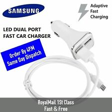 Samsung Dual Port In Car Fast Charger Adapter For Galaxy Note 5 4 S6 S7  S8+ S9
