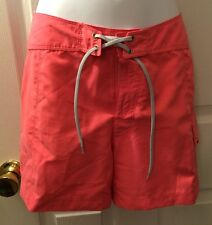 "THE NORTH FACE Board Shorts Salmon Pink Sz 6 Beach Paddle Surf 4"" Mint Cond!"