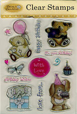 Daisy & Dandelion - Happy Birthday - Clear Stamps