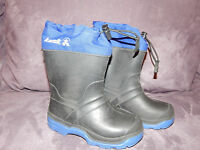 KAMIK Youth Childs Kids Black and Blue Snow/Winter Boots-Size 10 T US-VGUC