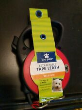 Top Paw Retractable tape Dog Leash Medium 16ft. Red - NEW up to 80 lbs