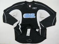 Practice Worn Used Reebok OHL Pro Stock Ice Hockey Player Jersey 56 Black