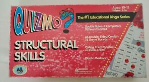 Quizmo Educational Bingo Game World Class Learning Materials Structural Skills