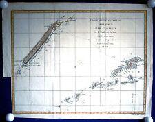 PAZIFIK - Neukaledonien - Vanuatu Reise von Cook Landkarte 1780 Original