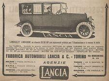 W9062 LANCIA - Landaulet Limousine - Pubblicità del 1917 - Vintage advertising