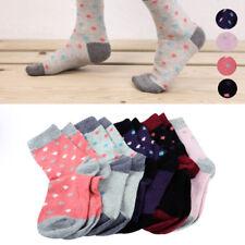 5xWomen Wool Cashmere Thick Warm Soft Rhombus Pattern Casual Sports Socks Winter