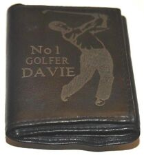 NO 1 GOLFER GOLF PERSONALISED GIFT WALLET ENGRAVED WITH NAME GENUINE LEATHER