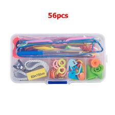 56x Crochet Hook Knit Yarn Weave Knitting Needle Clip Marker Tool Set W/Case New