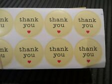 Thank you love heart circle stickers bonbon wedding favours (pack of 120 qty)