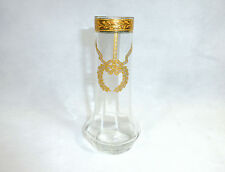Unusual vase bohemian crystal 1900 vase gold