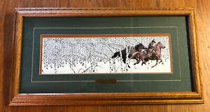 """Bev Doolittle """"Sacred Ground"""" framed"""