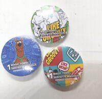 3 Scooby-Doo Magic Towels Like Groovy Brand New Sealed Wash Cloths Hanna-Barbera