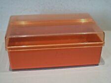 Ancienne boite à sucre vintage, plastique orange, Miflex