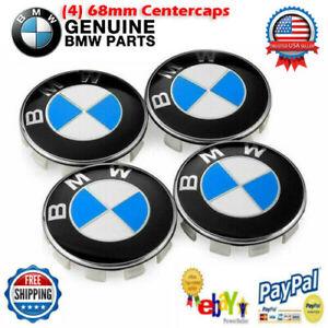 ✨ Genuine BMW Emblem Logo Badge Wheel Rim Center Hub Cap 68mm Set of 4 Covers ✨