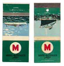 MOORE MCCORMACK LINES 2 MATCHBOX LABEL ANNI '50 MARINA AMERICA