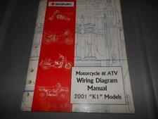 Factory 2001 Suzuki Motorcycle & Atv Wiring Diagram Manual 64pgs