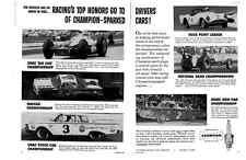 1960 A.J. FOYT - REX WHITE - DUNCAN BLACK - LEONARD HARRIS ~ 2-PAGE RACING AD