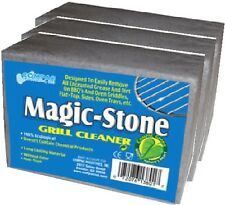 Magic Stone Griddle/Grill BBQ Barbecue Cleaner Cleaning Block Pumice - 3 pack