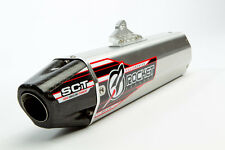HONDA CRF 450R 2005 ROCKET EXHAUST SLIP-ON WITH ALLOY MUFFLER CARBON CAP.