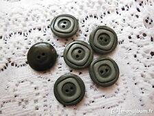 lot 10 boutons gris mercerie couture mercerie vintage diamètre 2,1 cm  ref 538