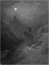 Gustave Dore Alfred Lord Tennyson Idylls of the King 19 1868, 7x5 Inch Reprint