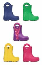 Crocs Kids Handle It Rain Croslite Boys Girls Lightweight Wellies Boots.