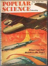 August 1948 POPULAR SCIENCE long range bombers B-36 XB-47 Lakester hot rods