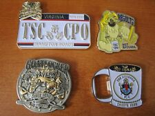 4 Navy CPO Challenge Coins Goat Tavern Master Training USS Monsoon Results