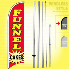 Funnel Cakes Windless Swooper Flag Kit 15 Feather Banner Sign Rb H