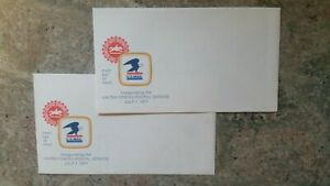 2 First Day Of Issue Envelopes Inaugurating the U. S. Postal Service July 1,1971