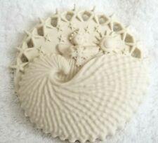 """Margaret Furlong Ornament Angel In Seashell 4"""" Signed Bisque Porcelain"""