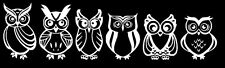 Funny Car Truck Window Vinyl Graphics Decal Bumper Sticker Stick- The Owl Family