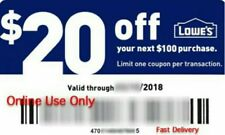 LOWE'S $20 OFF $100 PROMO COUPON